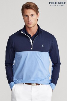 Polo Golf By Ralph Lauren Blue 1/4 Zip Top