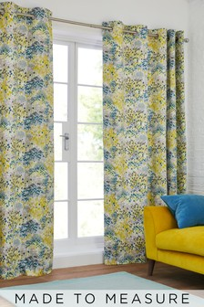Meadow Floral Print Eyelet Curtains