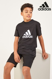 adidas Performance Black Logo Tee