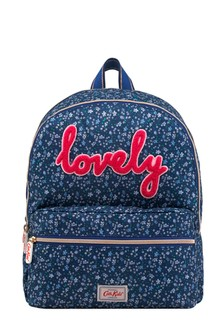Cath Kidston® Navy Eiderdown Ditsy Lovely Large Backpack