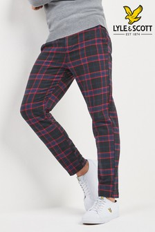 Lyle & Scott Navy Tartan Flannel Trouser