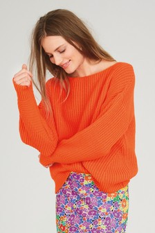Neon Ribbed Jumper