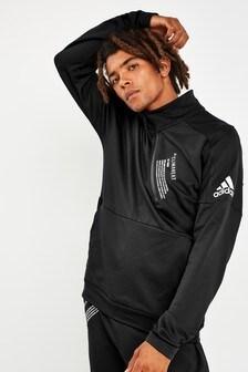 adidas ID Black 1/4 Zip Top