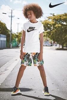 Nike Orange Tropical Short