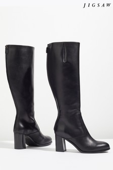 Jigsaw Black Mason Knee High Boot