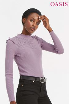 Oasis Lilac Penny Cute Frill Jumper