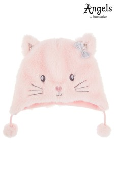 Accessorize Angels Pink Fluffy Cat Chullo Hat