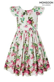 Monsoon Rosa Cotton Print Dress