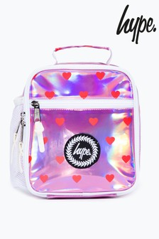 Hype. Red Heart Print Pink Lunch Box