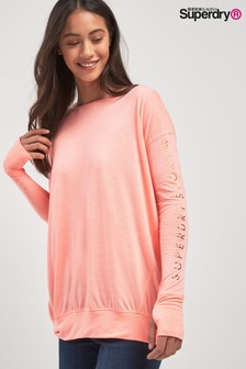 Superdry Pink Long Sleeved Sports Tee