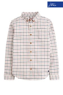 Joules Cream Multi Check Atley Shirt