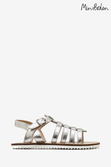 Boden Silver Leather Gladiator Sandal