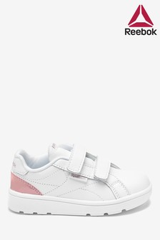 Reebok White/Pink Royal Trainers