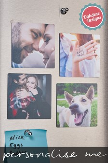 Personalised Set Of Four Photo Magnets by Oakdene Designs