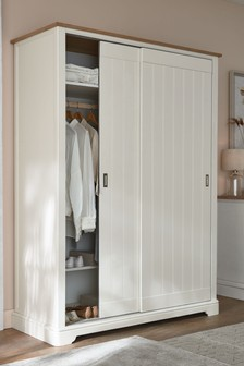 Hampton 1.5M Chalk Sliding Wardrobe