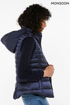 Monsoon Blue Rachel Quilted Gilet