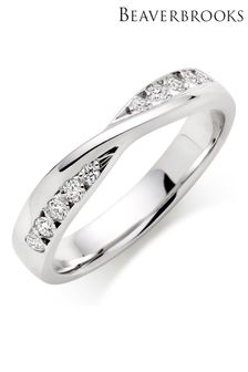 Beaverbrooks 9ct White Gold Diamond Wedding Ring