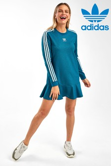 adidas Originals Teal Sparkle Tee Dress