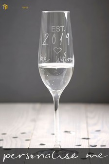 Personalised Est In 2019 Mr Champagne Flute by Signature Gifts