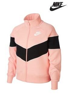 Nike Pink Heritage Full Zip Jacket