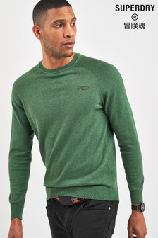 Superdry Green Long Sleeve Crew Jumper