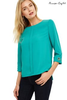 Phase Eight Green Serenity Ring Detail Blouse