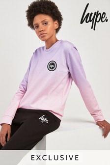 Розовый свитер с круглым вырезом под горло и с эффектом деграде Hype.