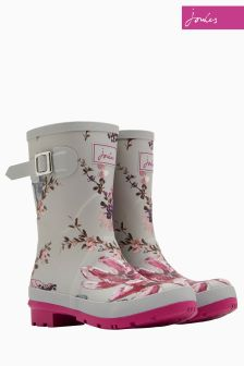 Joules Silver Harvest Floral Molly Welly