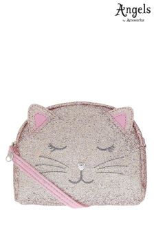Angels By Accessorize Glitter Party Cat Across Body Bag