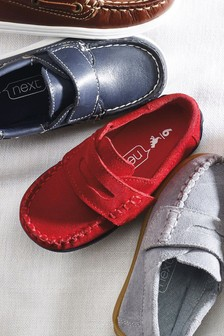 Italian Suede Penny Loafers (Younger)