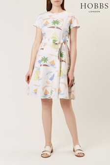 Hobbs White Sorrento Dress