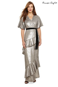 Phase Eight Silver Starlette Sequined Dress