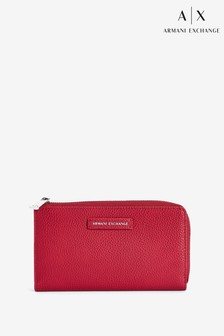 Armani Exchange Red Zip Purse