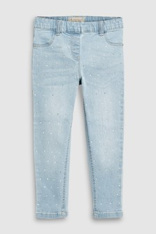 Denim Studded Jeggings (3-16yrs)