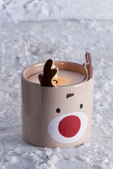 Ronny The Reindeer Candle