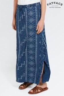 FatFace Indigo Jessica Tribal Batik Maxi Skirt