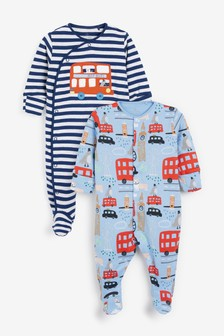 2 Pack London Sleepsuits (0mths-2yrs)