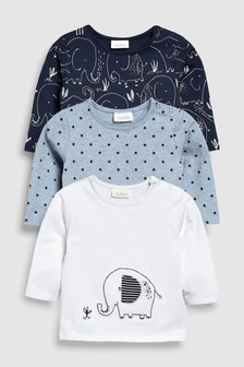 Elephant T-Shirts Three Pack (0mths-2yrs)