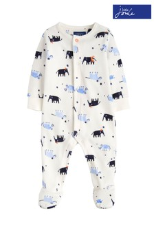 Joules Blue Baby Cosmo Velour Babygrow