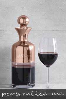 Personalised Rose Gold Decanter