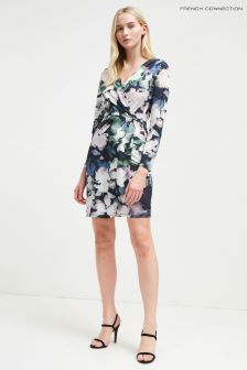 French Connection Blue Floral Wrap Dress