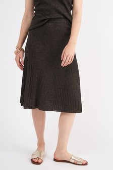 Pleat Sparkle Skirt