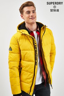 Superdry Yellow Sports Padded Coat