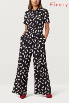 Finery Black/Ivory Alida Wide Leg Jumpsuit