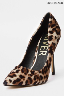 River Island Animal Leopard Heel