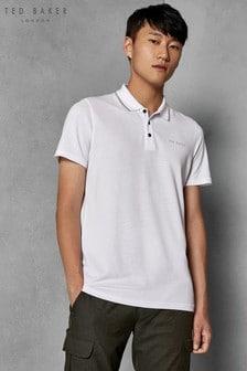 Ted Baker White Short Sleeve Poloshirt