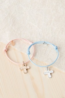 Personalised Cross Children's Bracelet by Merci Maman