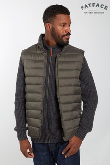 FatFace Green Truro Padded Gilet