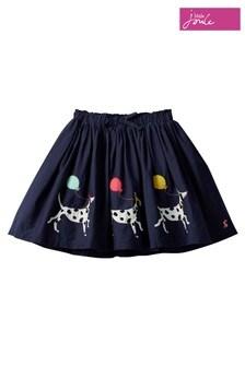 Joules Blue Ariel Woven Skirt