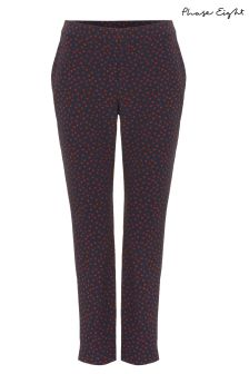 Phase Eight Blue Orly Spot Trouser